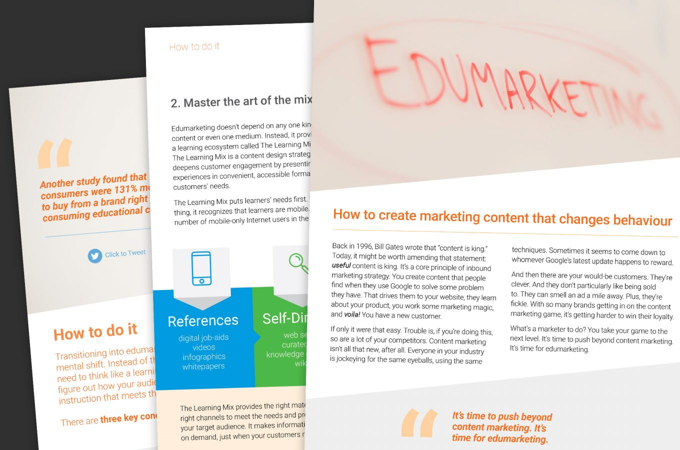 Collage of Edumarketing E-book pages