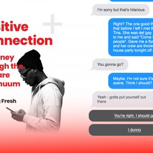 Marcus's Story graphic – a text message based experience to move college administrators towards behaviour change in the fight against AIDS & HIV