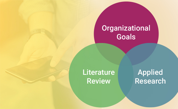 The intersection of your organizational goals, literature review and applied research helps illuminate a specific audience for your public education campaign.