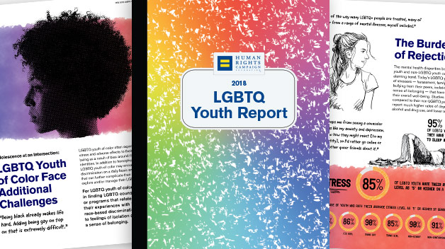 HRC LGBTQ Youth Report collage