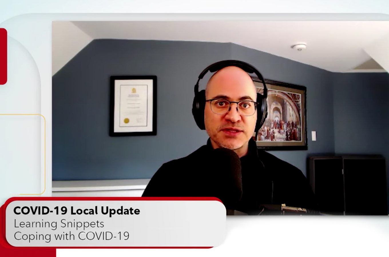 Aaron Barth speaking about Learning Snippets on Rogers TV COVID-19: Local Updates